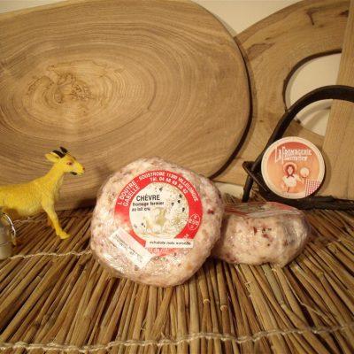 Chèvre échalote, noix, noisettes de la ferme Soustrobe