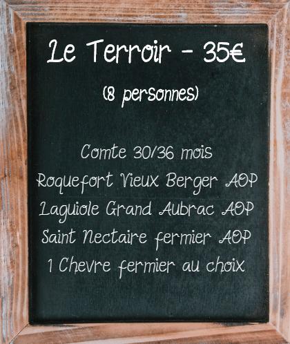 Plateau de fromage Terroir