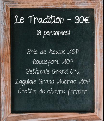 Plateau de fromage Tradition